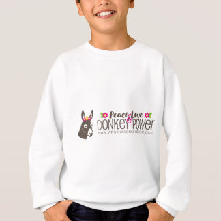 Peace Love Donkey Power Logo Sweatshirt