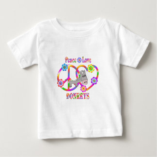 Peace Love Donkeys Baby T-Shirt