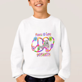 Peace Love Donkeys Sweatshirt