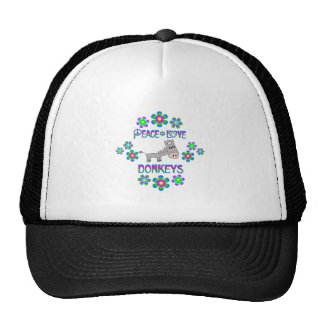 Peace Love Donkeys Trucker Hat