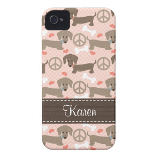 Peace Love Doxies Dachshund Blackberry Bold Case