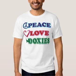 Peace-Love-Doxies- Dachsund Shirt