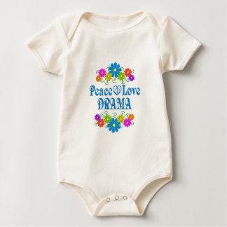 Peace Love Drama Baby Bodysuit