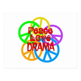 Peace Love Drama Postcard