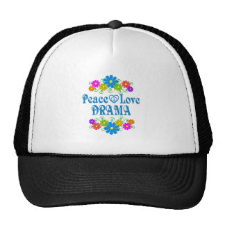 Peace Love Drama Trucker Hat