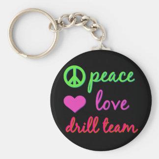 Peace Love Drill Team Keychain