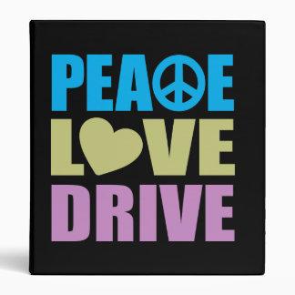 Peace Love Drive 3 Ring Binders
