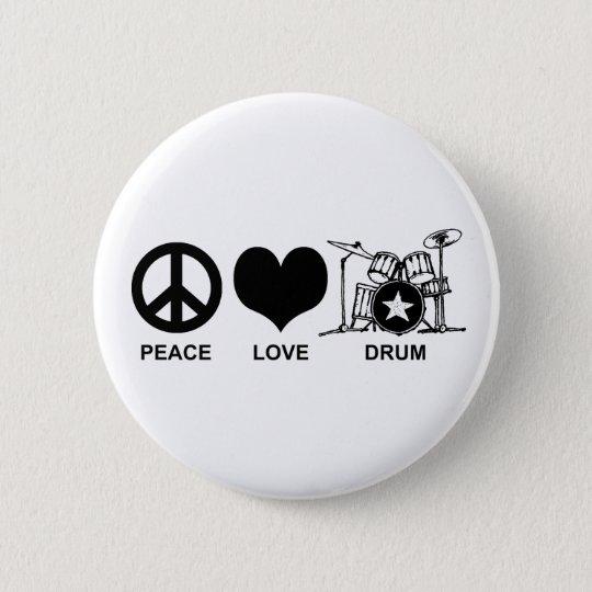 Peace Love Drum 2 Inch Round Button
