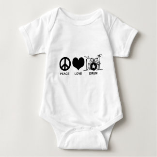 Peace Love Drum Baby Bodysuit