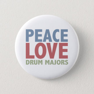 Peace Love Drum Majors 2 Inch Round Button