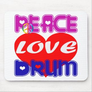 Peace Love drum Mousepad