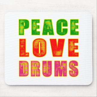 Peace Love Drum Mouse Pad