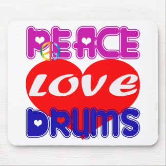 Peace Love drums Mouse Pad