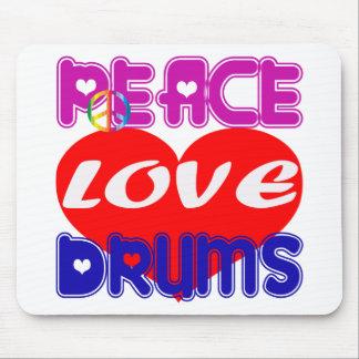Peace Love drums Mouse Pad