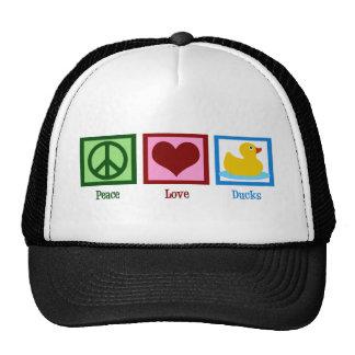 Peace Love Ducks Mesh Hat