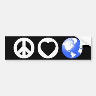 Peace Love Earth Bumper Stickers