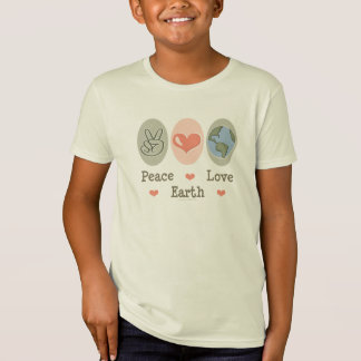 Peace Love Earth Kids Organic Tee Shirt