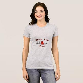 Peace Love Echo Jersey T-shirt