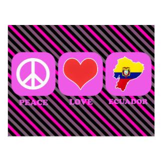 Peace Love Ecuador Postcard