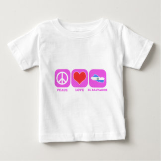 Peace Love El Salvador Baby T-Shirt