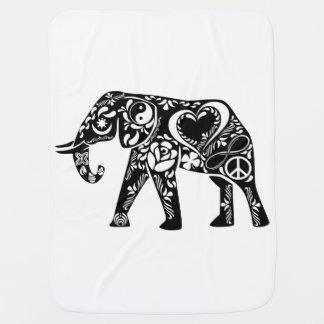 Peace Love Elephant Swaddle Blankets