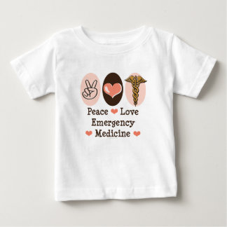 Peace Love Emergency Medicine Baby T-shirt