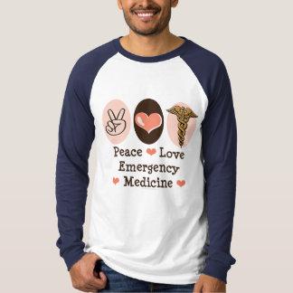 Peace Love Emergency Medicine Baseball Tee Shirt