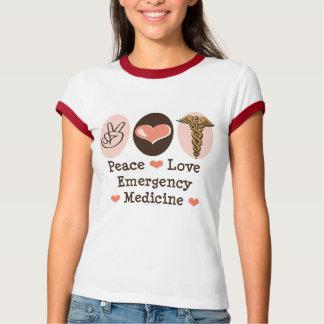 Peace Love Emergency Medicine Ringer T shirt