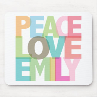 Peace Love Emily Personalized Tees & Gifts Mouse Pad