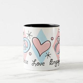 Peace Love Engaged Coffee Mug