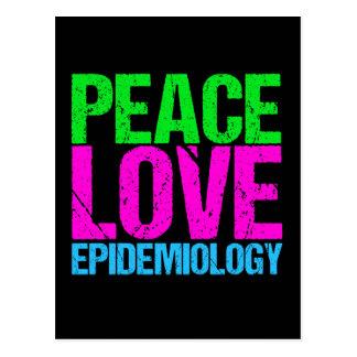 Peace Love Epidemiology Postcard