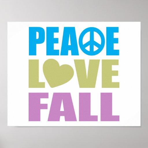 Peace Love Fall Print
