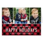 Peace Love & Family   Holiday Multi-Photo Card