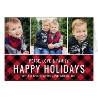 Peace Love & Family | Holiday Multi-Photo Card