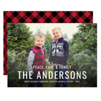 Peace Love & Family | Holiday Photo Card
