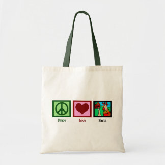 Peace Love Farm Tote Bag