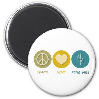 Peace Love Feng Shui Magnet