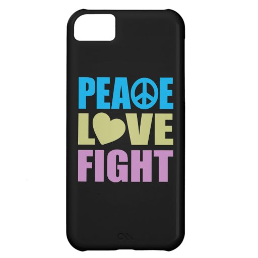 Peace Love Fight iPhone 5C Covers