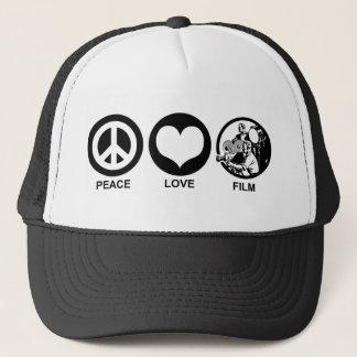 Peace Love Film Trucker Hat