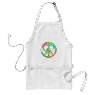 Peace Love Flower Child Standard Apron