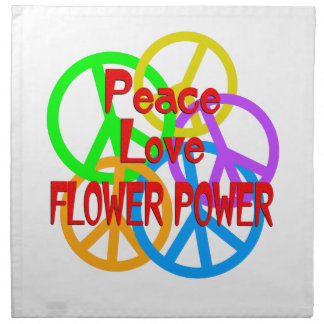 Peace Love Flower Power Napkin