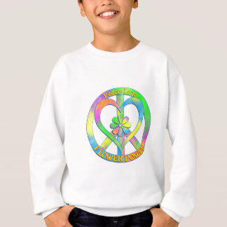 Peace Love Flower Power Sweatshirt