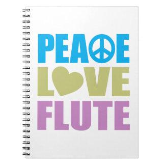 Peace Love Flute Spiral Notebook