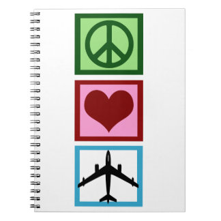 Peace Love Fly Note Books