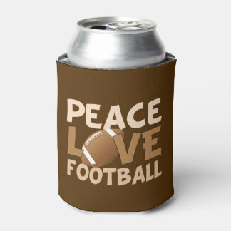 Peace Love Football Can Cooler