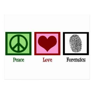 Peace Love Forensics Postcard