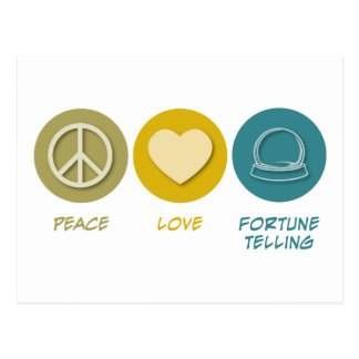 Peace Love Fortune Telling Postcard
