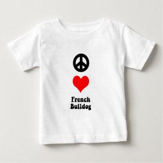 Peace love French Bulldog T-shirt