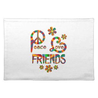 Peace Love Friends Place Mats