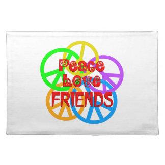 Peace Love Friends Placemat